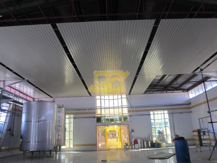 سقف کاذب طاهاطراحی سقف کاذب دامپا بافل